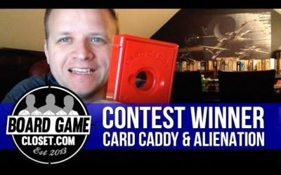 Contest Winner, Card Caddy, and Alienation Kickstarter Update